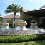 Front entrance  fountains