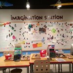 Kids creative area at The Mint