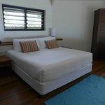 Bed in split-level Oceanview Terrace villa