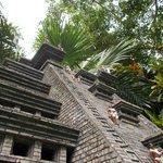 A mini replica of a Mayan Ruin