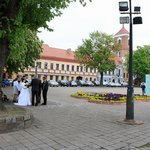 Wedding in city hall square