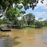 Hand-crank ferry to Xunantunich Mayan Ruins