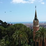Views from the free part of Guell Park