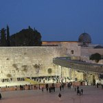 Western Wall Plaza at twilight