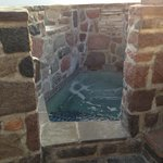 The cold plunge pool (good for circulation)