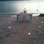 Sunset dinner, how romantic.