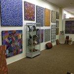 Mbantua Gallery Aboriginal Art display.