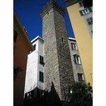 Gawping at tower near SANTA MARIA DI CASTELLO