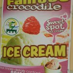 the ice cream that uses crocodile eggs for the flavor