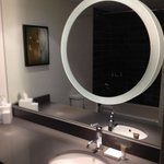 Hotel featured stunningly modern washrooms.