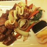Beef and Scallops Teppanyaki