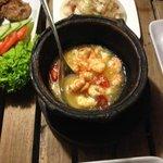 Shrimps in a pot