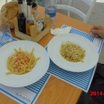 fresh pasta with shrimp and seaurchin