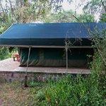 My tented hut