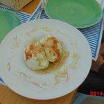 mozzarella di bufala with sea urchin on top