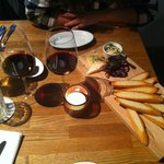Starter – local cheese and sausage plate