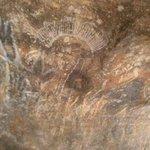 Uluru rock wall paintings