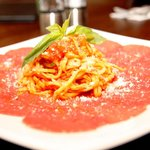 Pasta und Carpaccio