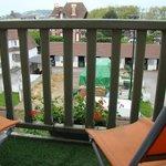 balcon avec vu sur les écuries