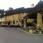 Great place to stop for early evening refreshment at Castle Combe