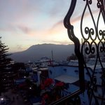 il tramonto dal terrazzino