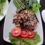 Fresh sauteed fish Lao Style