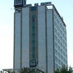 Hotel - vom Turia-Gelände aus gesehen
