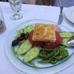 Delicious fresh Greek salad - best in Mykonos Town