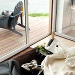 Terrasse privative face à la mer