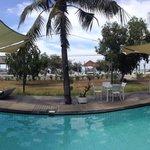 Pooll area, close to beach
