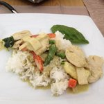 Green curry!