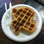 Texas shaped waffel