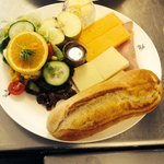 Flynns Ploughmans. All this freshly prepared food for £7. Great value- home made pickles and dre