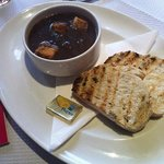 Excellent food and staff. French onion soup.