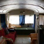 Honeymoon Bus living room