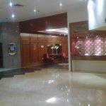the lift lobby...