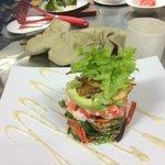 Prawn, bacon and avocado salad