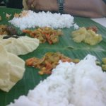 mouthwatering Banana leaf rice