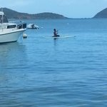 Paddle boarding @ local's beach