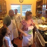 Another shot of everyone in the kitchen...
