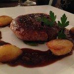 Roast duck at L'Amandier