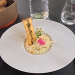 Risotto with asparagus as a starter