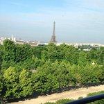 Torre Eiffel - vista da direita do quarto