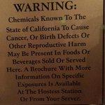 Interesting sign in the bar/restaurant....