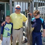 Mills family with there 70 lb cobia