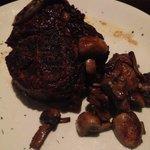 Bone in Filet with sautéed mushrooms! Best Filet EVER!