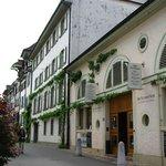 der Eingang in den alten Gassen Basels