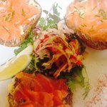 Clarks of ballina smoked salmon on Guinness & pumpkin seed brown bread