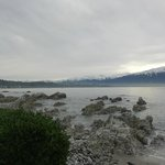View on Kaikoura from The Pier Hotel