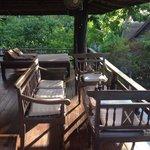 Terrace in deluxe bungalow